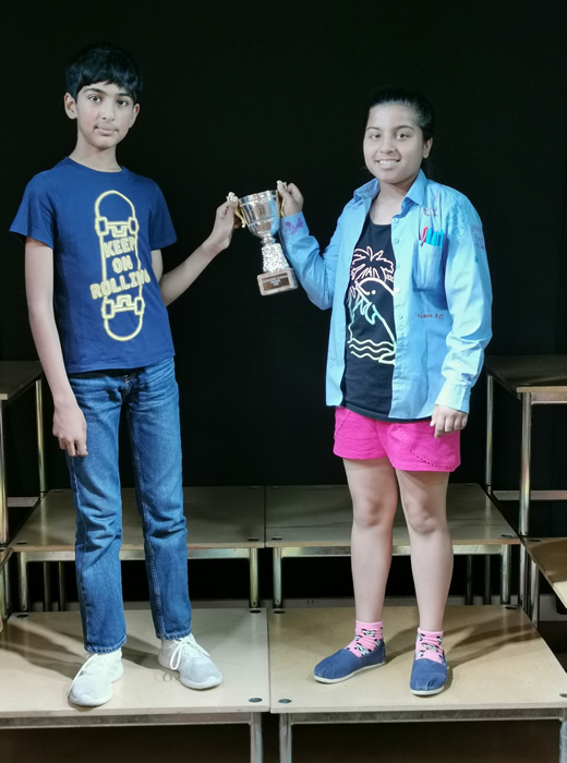 House Sports trophy Josh, Priya SWIFT
