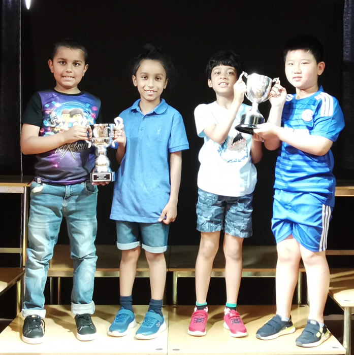 Infant house trophy and sports cup Noman, Sahib, Nivaan, Jingxi